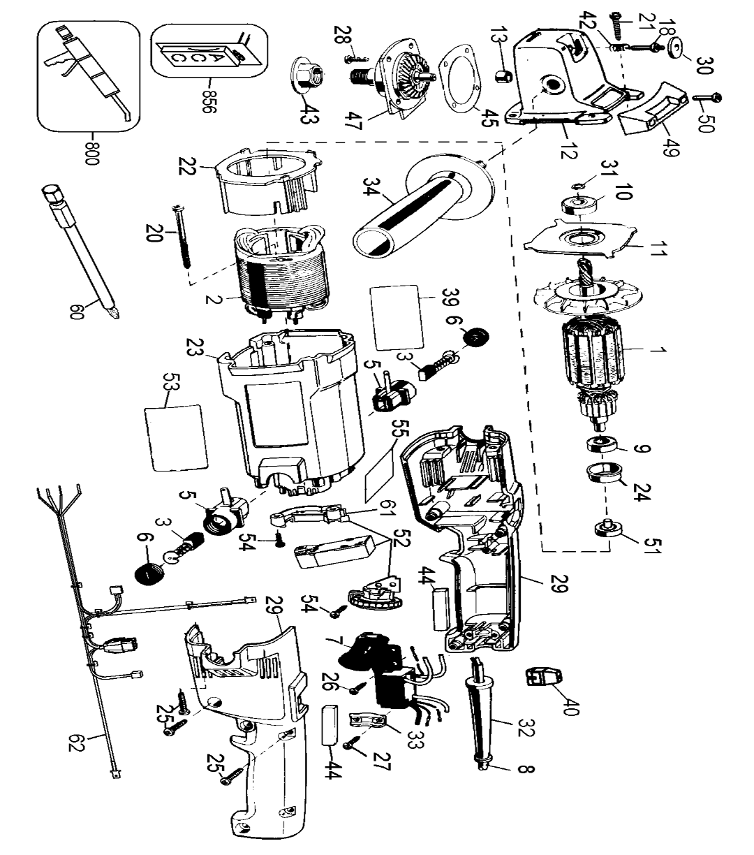 Dewalt Dw849 Type 3 Parts List
