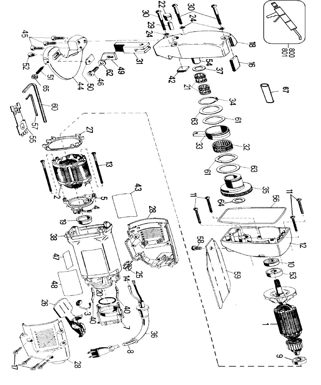 Dewalt Dw892 Type 3 Parts List