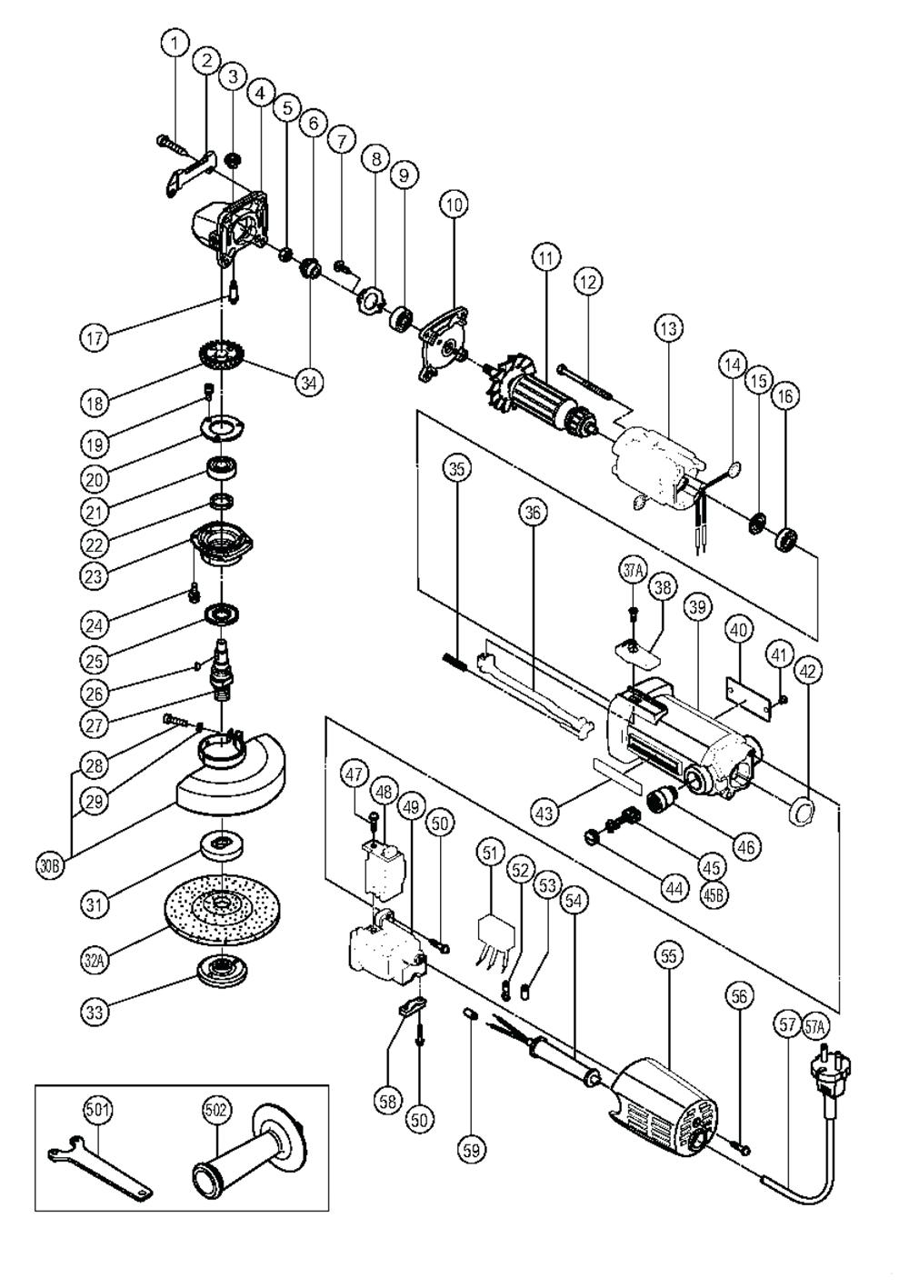 Hitachi fg12sa2 parts schematic