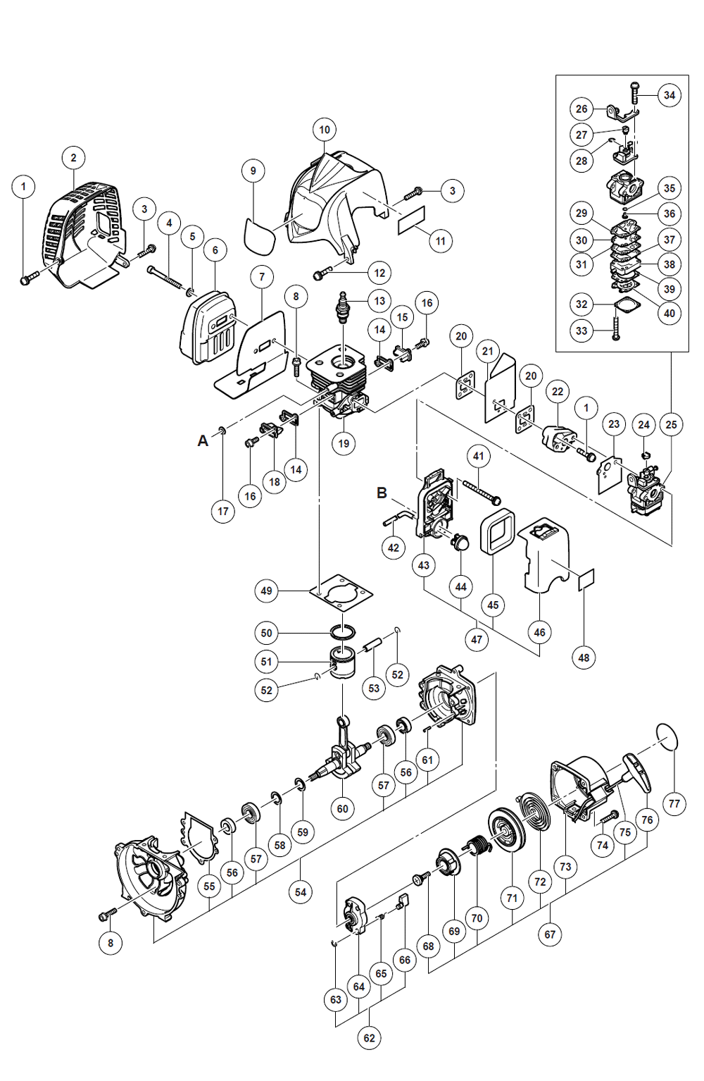 Tanaka tcg24easpsl parts schematic