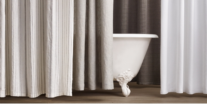 cotton linen shower curtain
