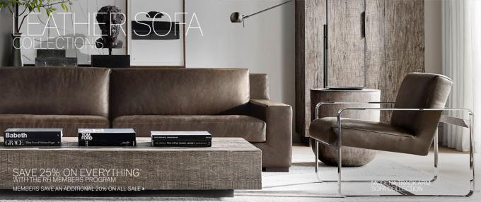 sofa collections rh modern