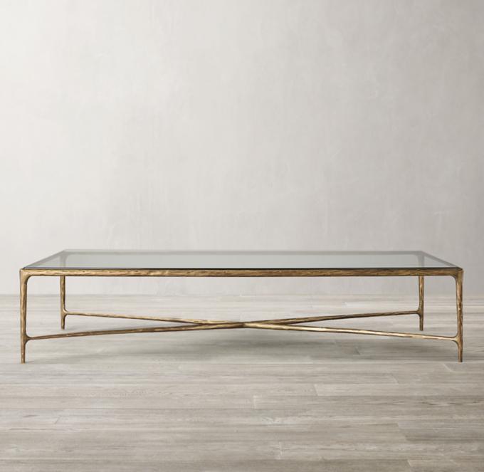 thaddeus glass coffee table