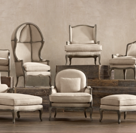 Restoration Hardware Style Sofa The Wells Collection