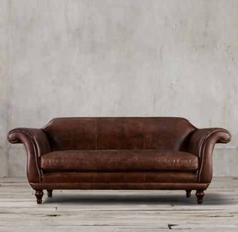 regency leather sofa