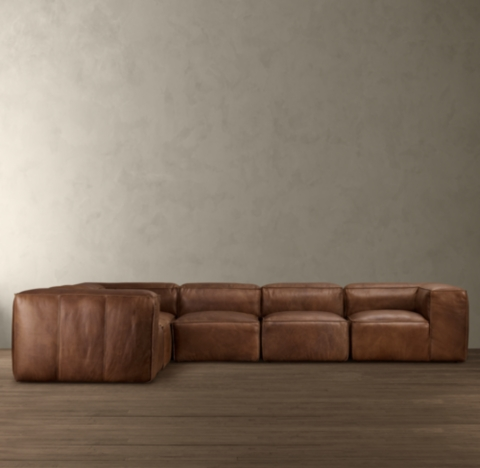 fulham leather l sectional
