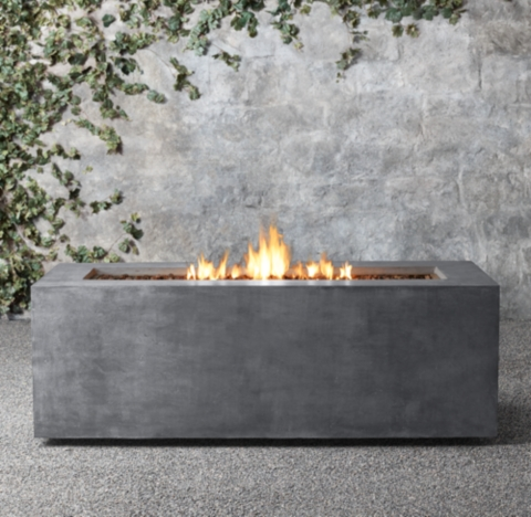 Mendocino Propane Tall Rectangle Fire Table on Propane Fire Pit Ace Hardware id=83926