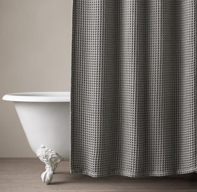 Waffle Weave Shower Curtain