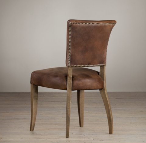 Adle Leather Side Chair