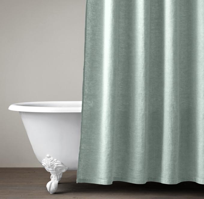 Stonewashed Belgian Linen Shower Curtain