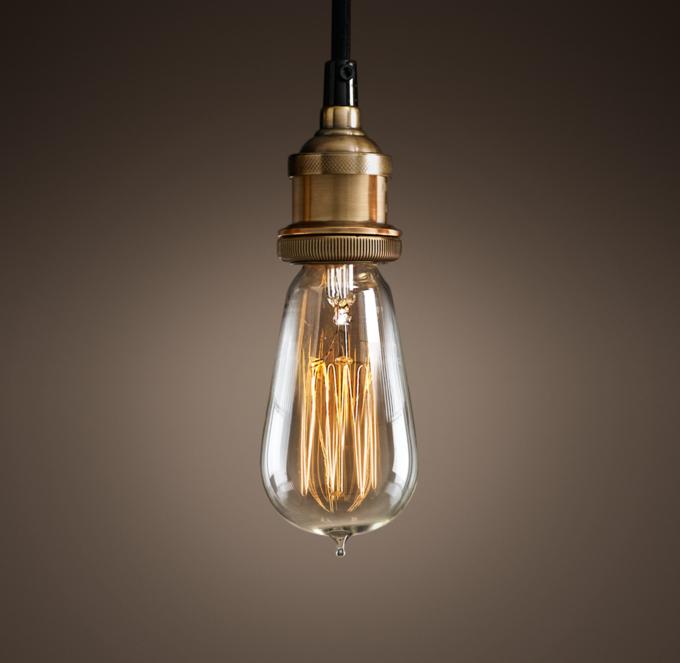 Bare Bulb Pendant Light