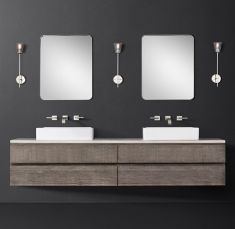 more sizes finishes monterey double extra wide floating vessel vanity