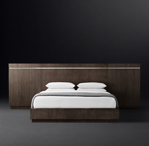 Bezier Wide extended Headboard Platform Bed
