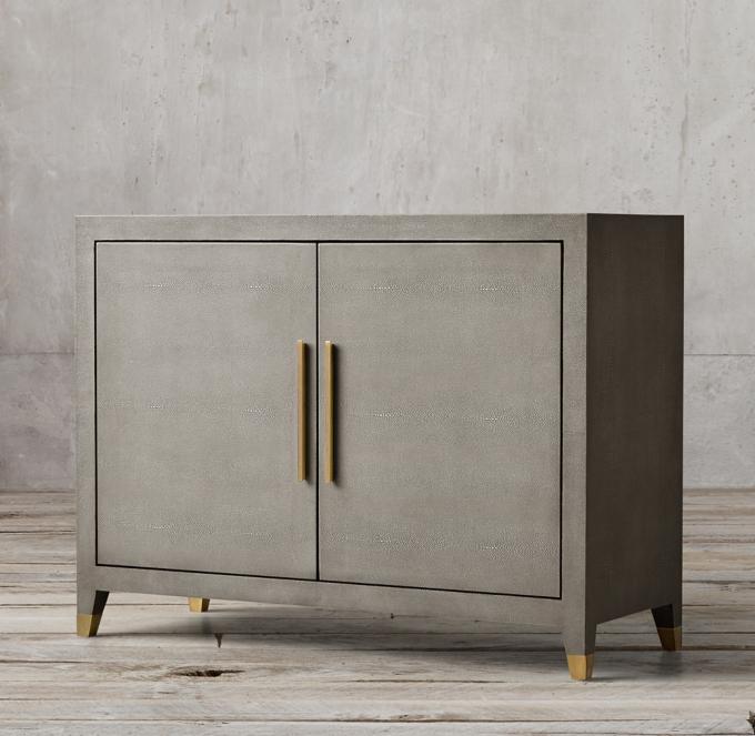 Graydon Shagreen Panel Double Door Sideboard