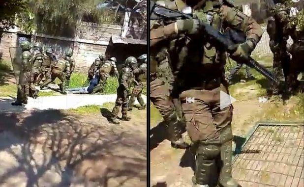 Secundarios del INBA defendían a su compañero tras ser detenido por Carabineros