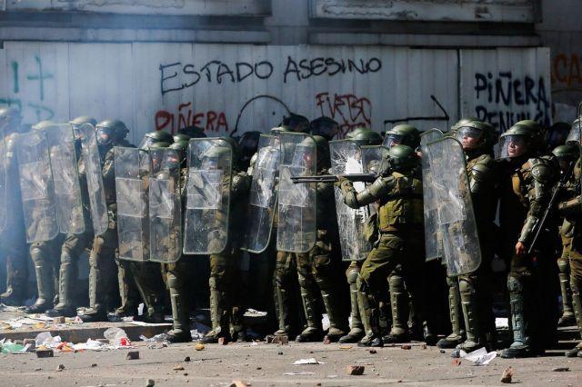 Carabineros_manifestación Estallido Social 18 de octubre