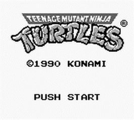 Teenage Mutant Ninja Turtles. TMNT: Fall of the Foot Clan. Konami 1990