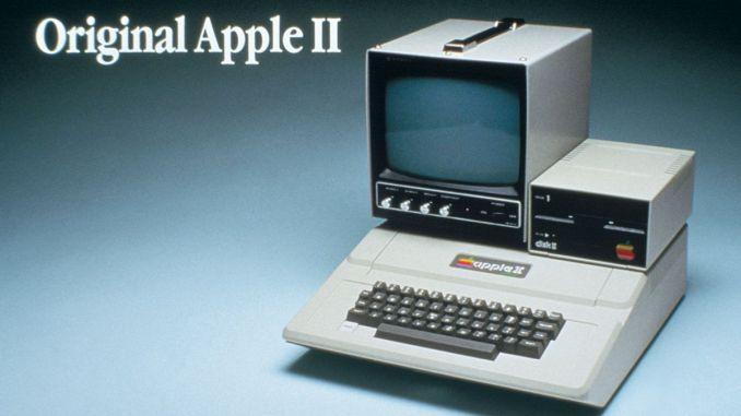 Apple II with DIsc II and Apple Monitor II from 1977