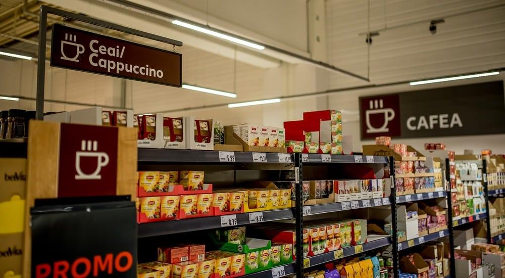 Kaufland_interior_categorie Ceai si Cafea