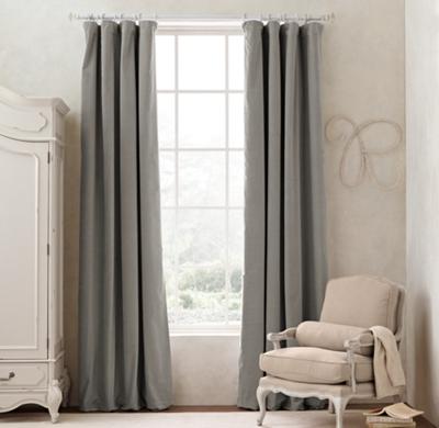 solid washed velvet drapery panel