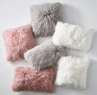 mongolian lamb pillow cover insert