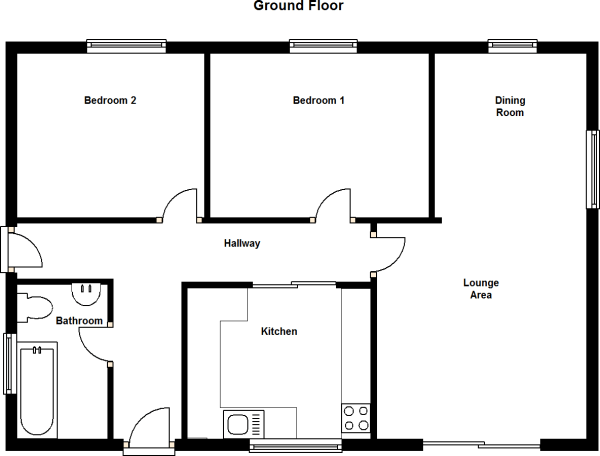 Two Bedroom Bungalow Plans Uk wwwcintronbeveragegroupcom