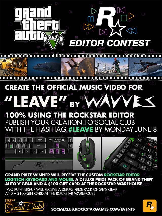 """Rockstar Editor Contest: Create the Official Music Video for """"Leave"""" by Wavves - Rockstar Games"""