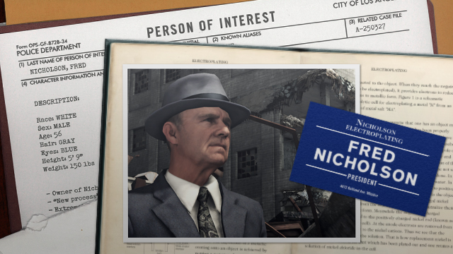 New L.A. Noire Nicholson Electroplating DLC Screens