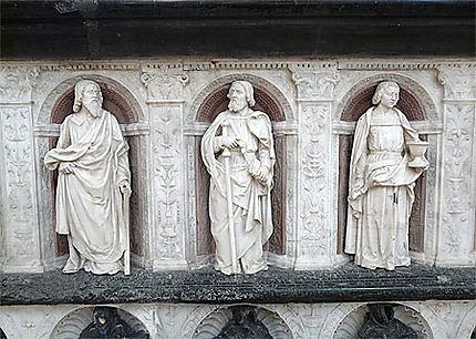 Les apôtres - Cathédrale de Nantes : Statues : Eglise : Cathédrale Saint-Pierre-et-Saint-Paul : Vieille-ville et quartier du Bouffay : Nantes : Routard.com