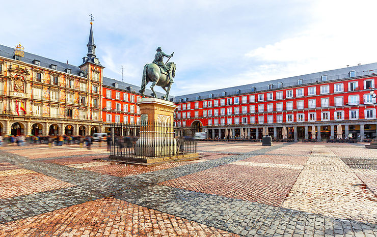 Plaza Mayor, Madrid - Espagne