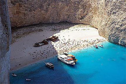 la celebre baie du naufrage au nord ouest de l ile de zakinthos zante