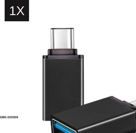 USB-C naar USB-A On-The-Go Adapter/Converter - 1 Stuk - Zwart