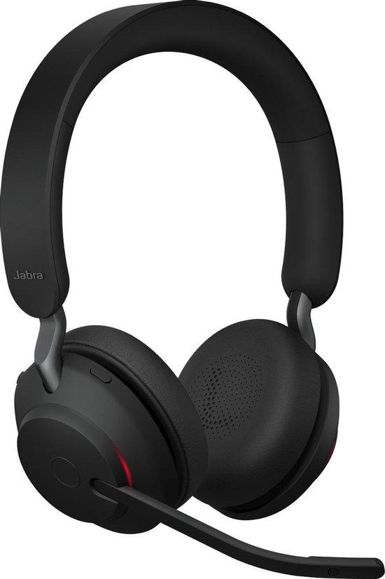 Jabra Evolve2 65 UC Stereo - Bluetooth Headset - op oor - draadloos - USB - noise isolating - zwart