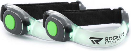 Rockerz Fitness® - Hardloop verlichting - Hardloop lampjes - LED - Groen - Voor om je armen - Set van 2
