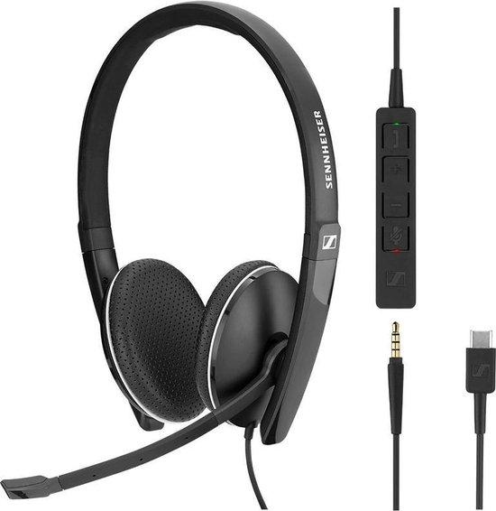 EPOS | Sennheiser ADAPT SC 165 USB-C - Headset stereo - op oor - met bekabeling - actieve geluidsdemping - 3,5 mm-stekker, USB-C - SC 100 series - zwart