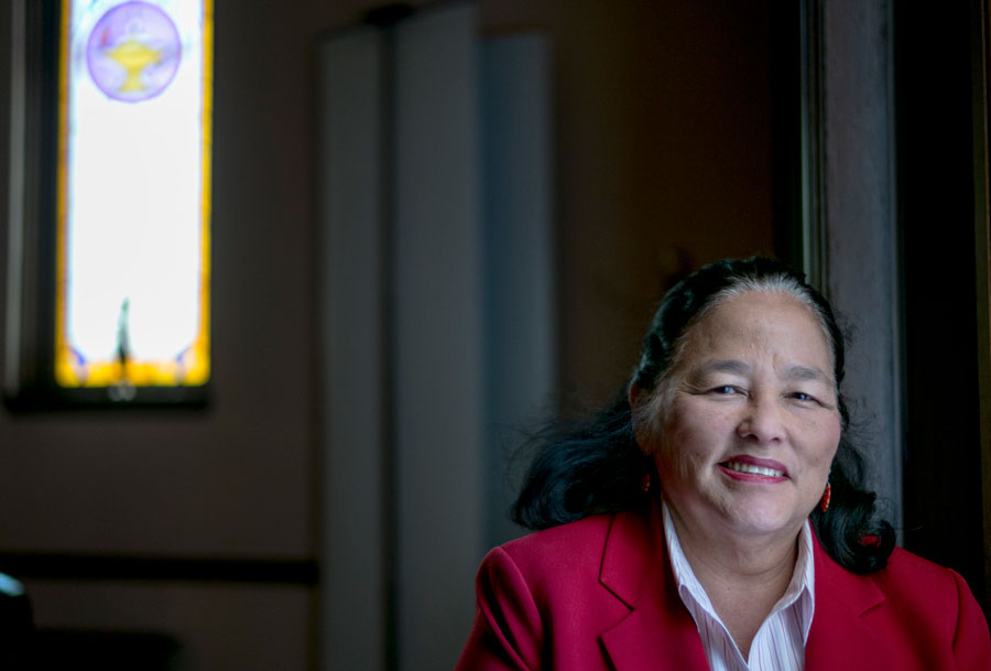 The Rev. Barbara Horikoshi-Firebaugh, pastor of Faith United Methodist Church, allowed Genny Lucchesi to set up camp in a side entrance. Ultimately, the neighbors complained, and the church board asked Genny to leave.
