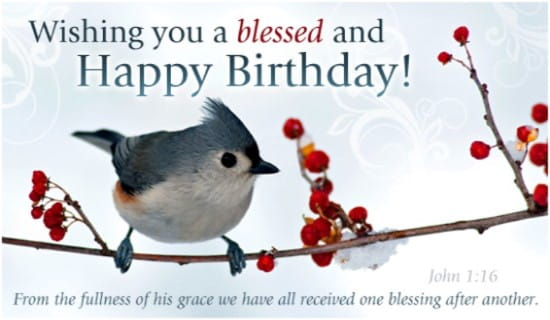Free Blessed Birthday ECard EMail Free Personalized
