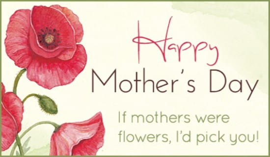Mothers Flowers ECard Free Mothers Day Cards Online