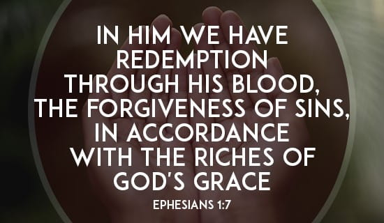 Image result for ephesians 1:7