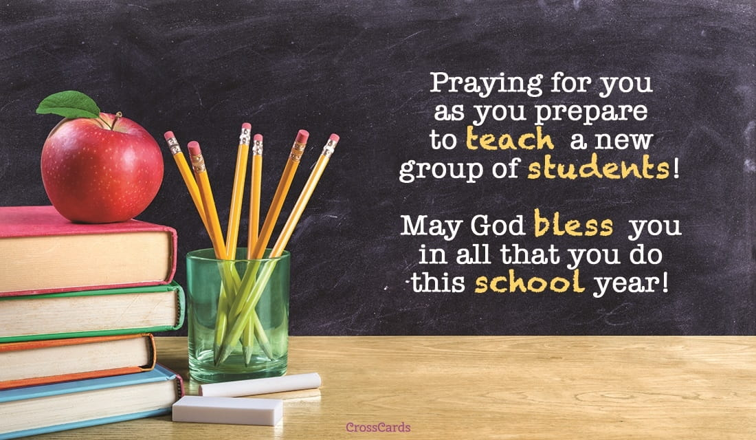Free Prayer For Teachers ECard EMail Free Personalized