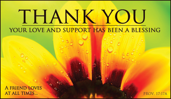 Love And Support Thank You ECard Free Christian Ecards