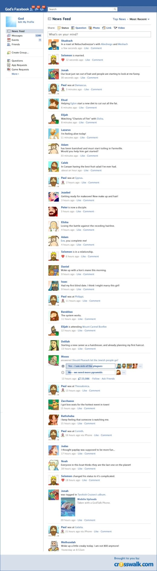What if the Bible Characters had Facebook [Infographic]