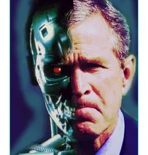 Image result for george bush cyborg