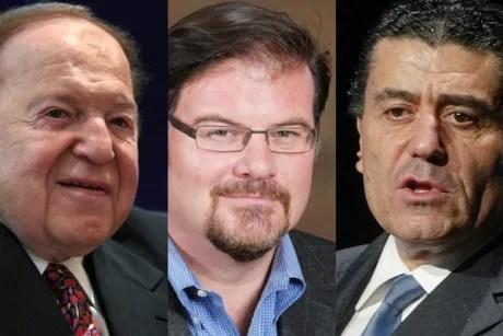 Sheldon Adelson, Jonah Goldberg, Haim Saban