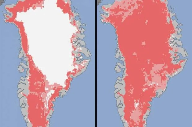 Waves rippled through Greenland's ice