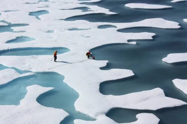 Arctic sea ice hits record low winter peak
