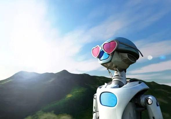 Optimistic robot --- Image by © Volker Moehrke/Corbis (Credit: Volker Moehrke)