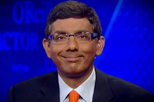 Right-wing author and filmmaker Dinesh D'Souza sets off Twitter storm with outrageously racist tweet