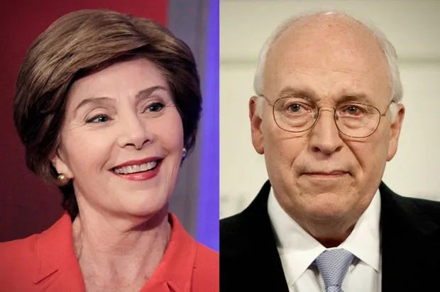 Laura Bush and Dick Cheney aren't courageous