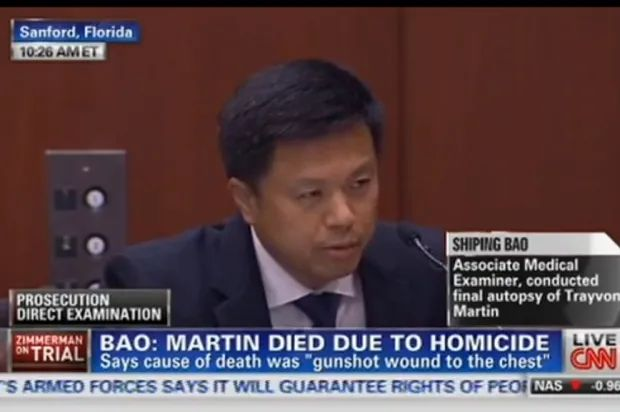 Medical examiner Shiping Bao challenges cross-examiner during Zimmerman trial